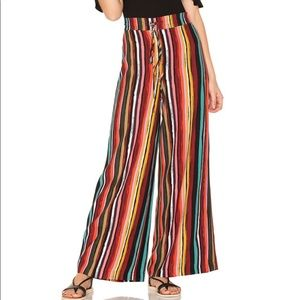 Free People Multicolor Wide Leg Pants Drawstring